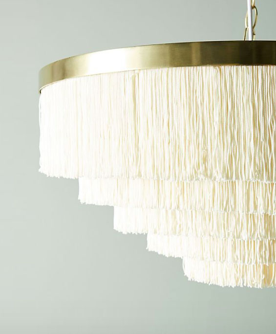 Chlor Dominik Oahu Fringed Chandelier from Anthropologie