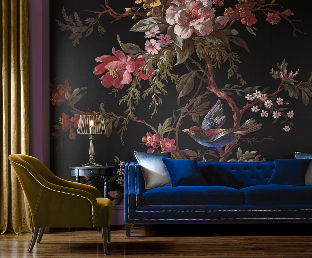 Interior Design Trends 2019 - Floral Mural
