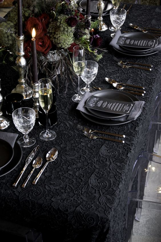 Dramatic Table Setting