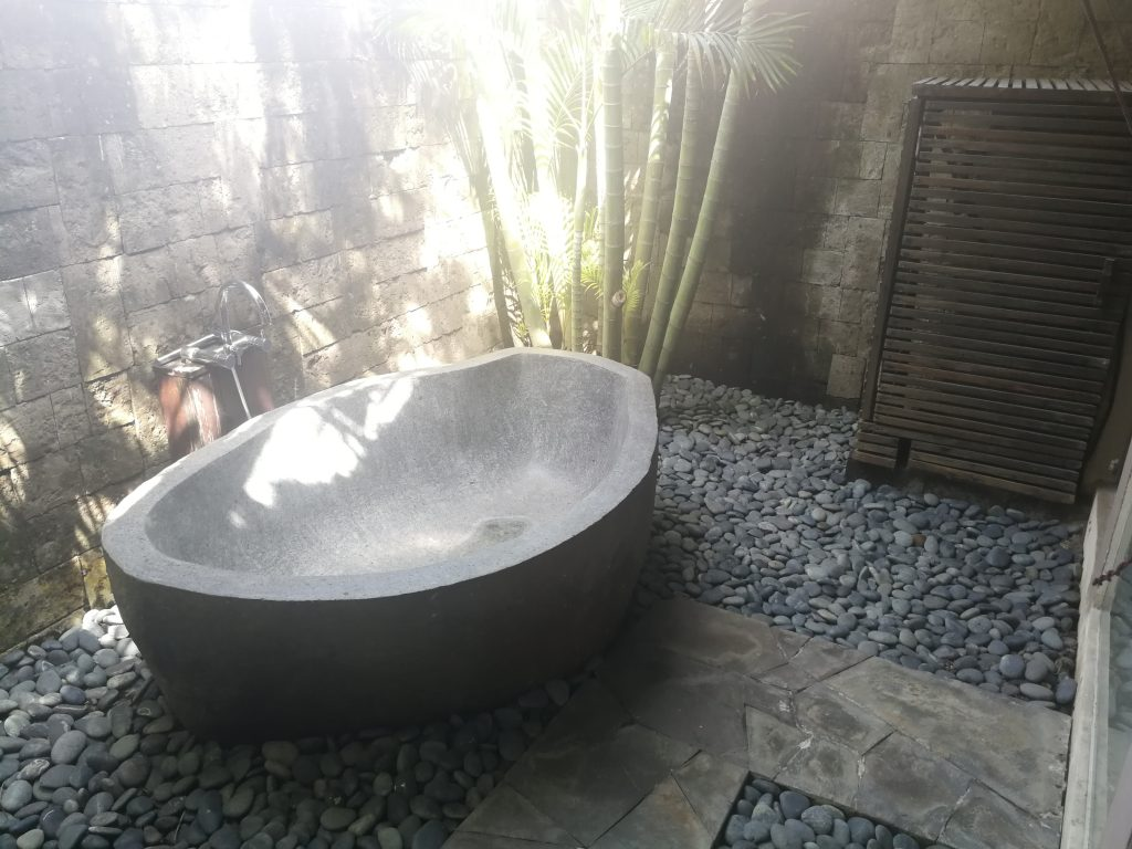 Indonesian Design Inspiration - Villa Mary Canggu Bali stone bath