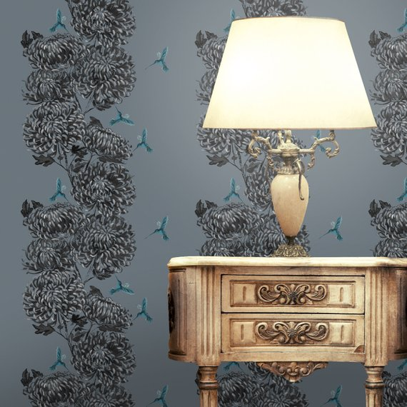 Etsy Lux & Bloom -Top 15: Favourite Spring Wall Coverings