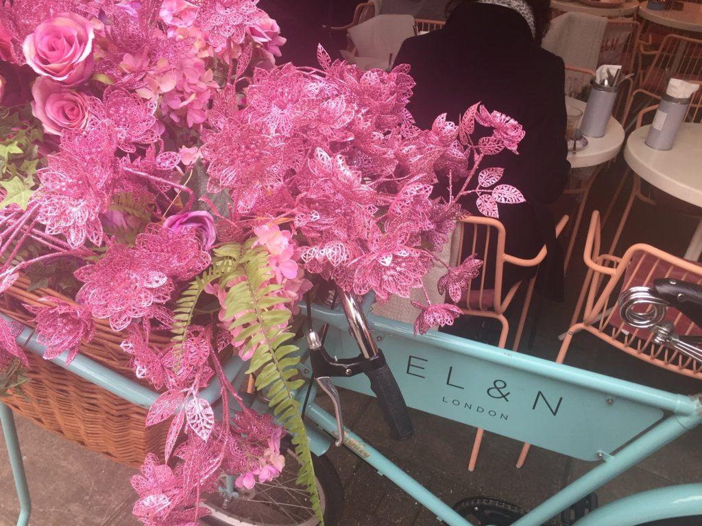 Flower Power at Elan Oxford Circus London - Elan Bike Outside