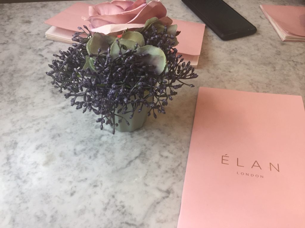Flower Power at Elan Oxford Circus London - Table Top and Menu