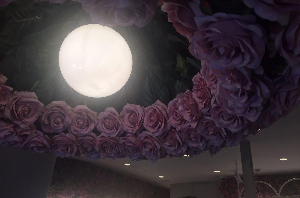 Flower Power at Elan Oxford Circus London - Elan Rose Light Fixture