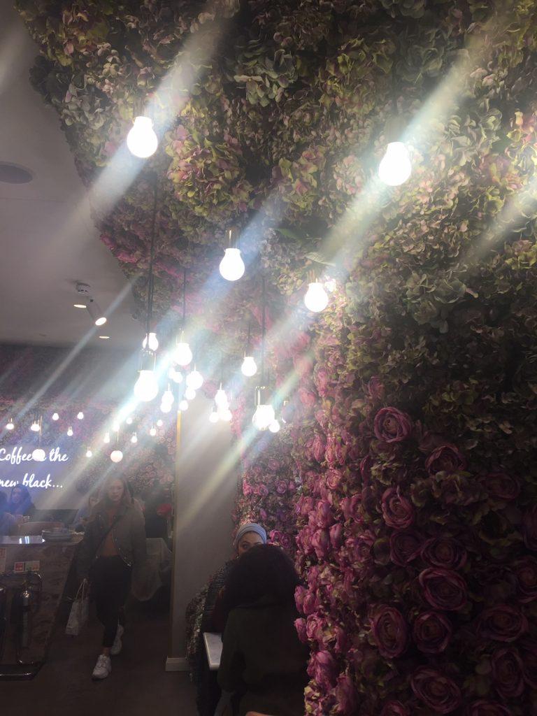 Flower Power at Elan Oxford Circus London - Flower Wall