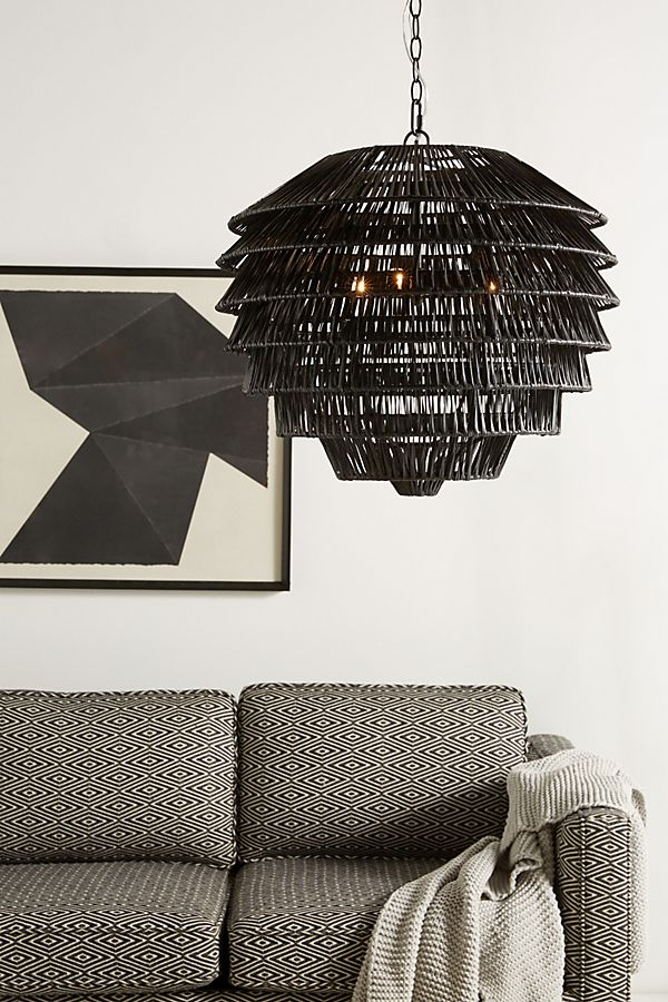 8 Rattan Styles For Lighting That Will Work For Your Home - Tiered Rattan Light