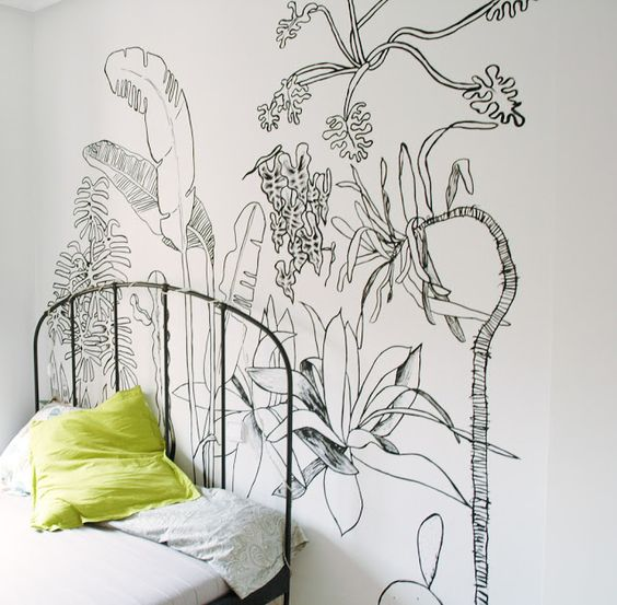 April Pinterest: Top 10 Pins - Bedroom Mural by Angela Leon