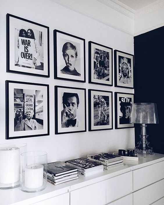 12 Ways To Display Your Gallery Wall - Linear