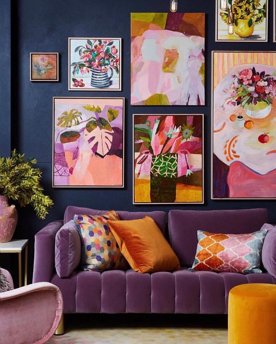 April Pinterest: Top 10 Pins - Vibrant maximalist living room