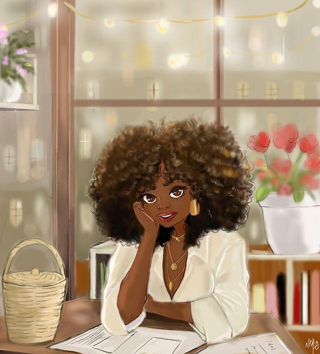 Nicholle Kobi illustration woman at desk