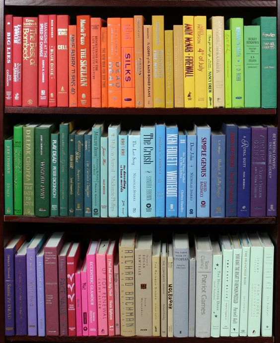 10 Ways to Style & Organise Your Bookshelves - Rainbow