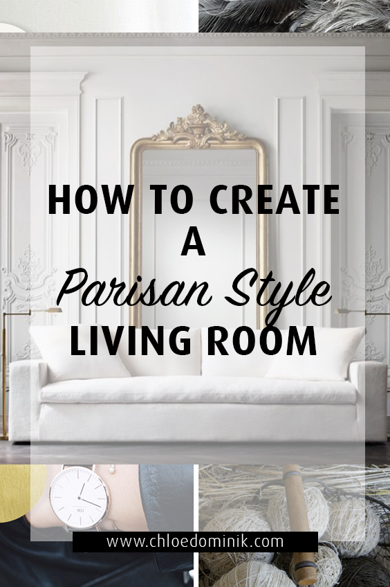 Parisian Style Living Room Interior