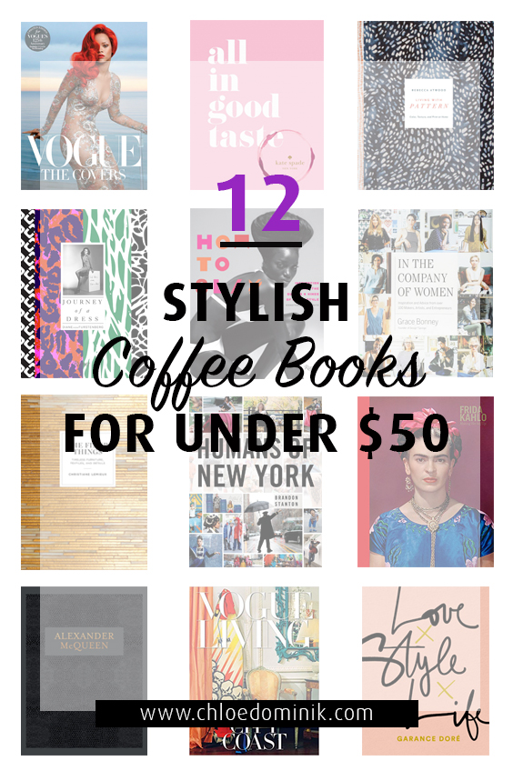 12 Stylish Coffee Books For Under $50