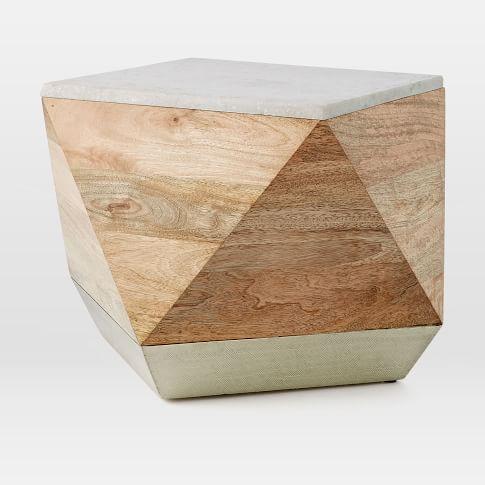 Roar + Rabbit layered drum side table