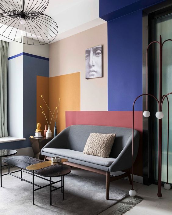 Colour Blocking For Your Interiors - Modern Living Room