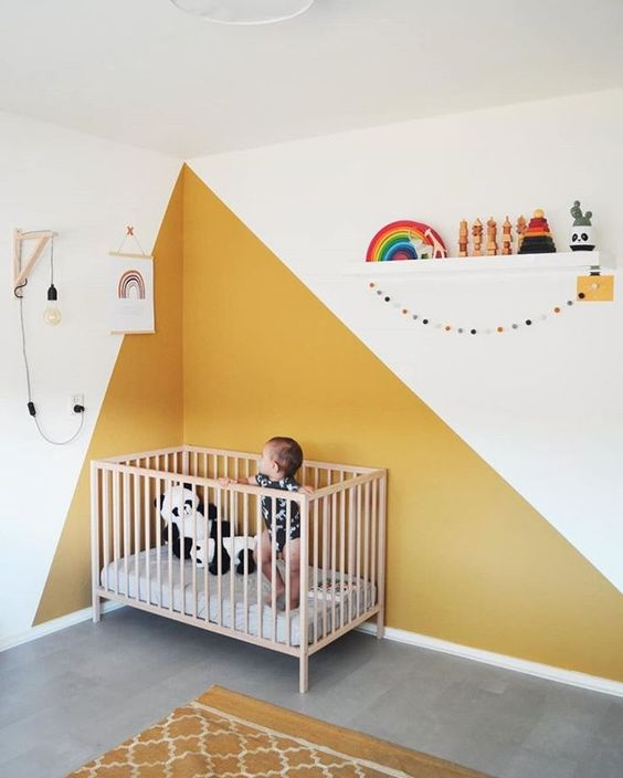 Colour Blocking For Your Interiors - Yellow Nursery