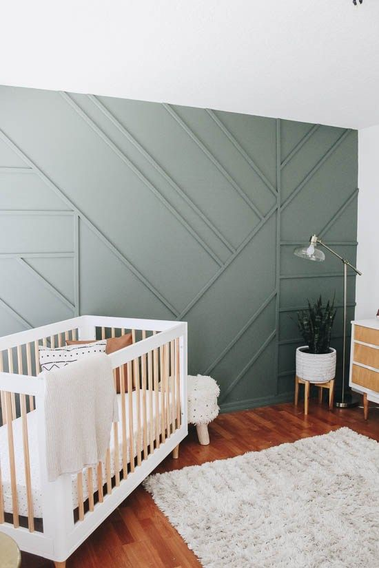 October Pinterest favs - Angled panelled accent wall