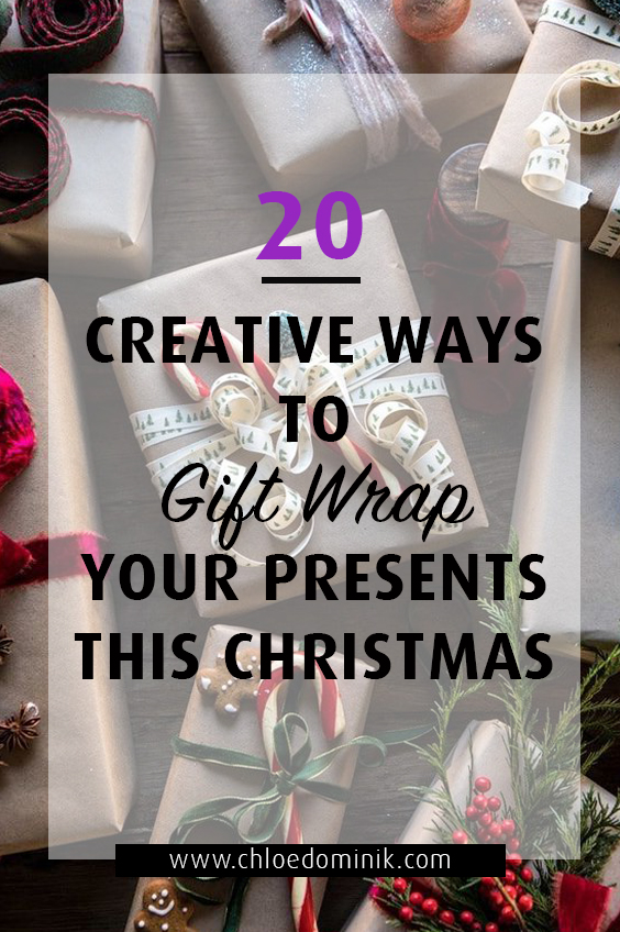 20 Creative Ways To Gift Wrap Your Presents This Christmas: Nowadays it's not just about the Christmas gift but it's about how attractive you gift looks. Get creative with your Christmas gift wrapping with these great ideas to place under the tree for friends and family. @chloedominik #wrappingideas #giftwrapping #giftwrappingideas #giftwrappinginspiration #christmaspresentideas #creativegiftwrapping