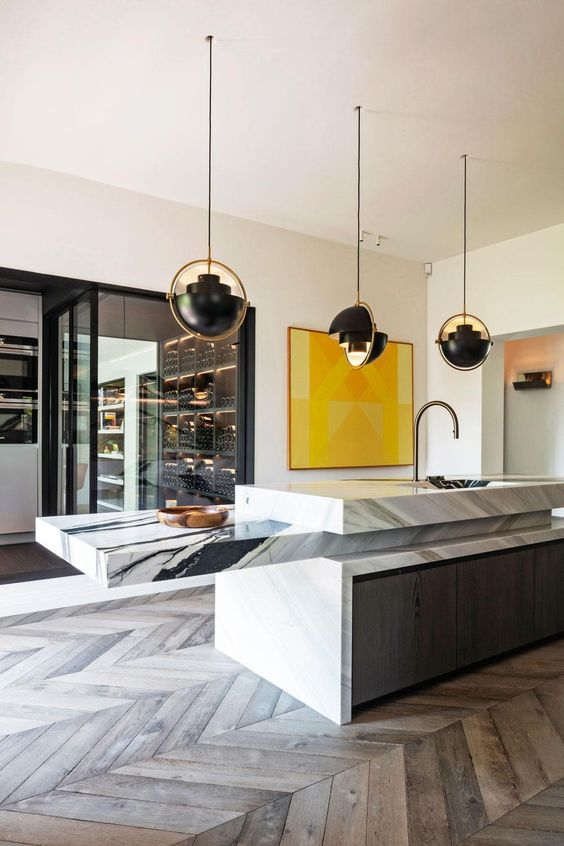 10 Interior 2020 Trends That Will Be Carrying On Next Year - Marble Kitchen Island