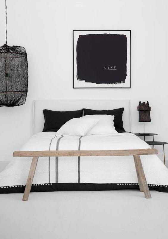 December Pinterest: Top 15 - Black and white monochrome bedroom