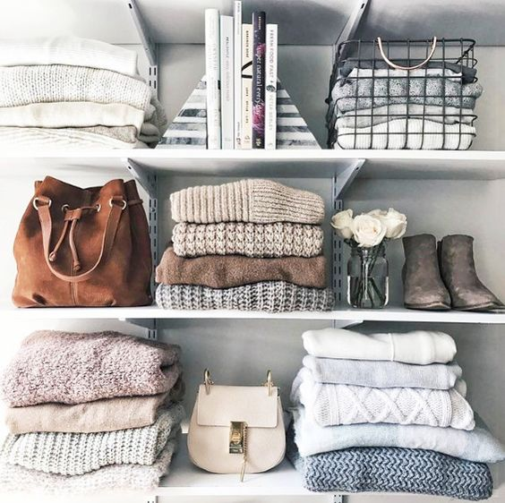 Closet Clean Out: How To Organise Your Closet - Open Shelving Closet Ideas