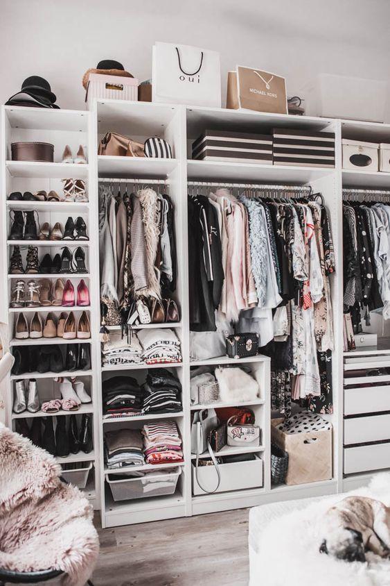 Packed Pax wardrobe