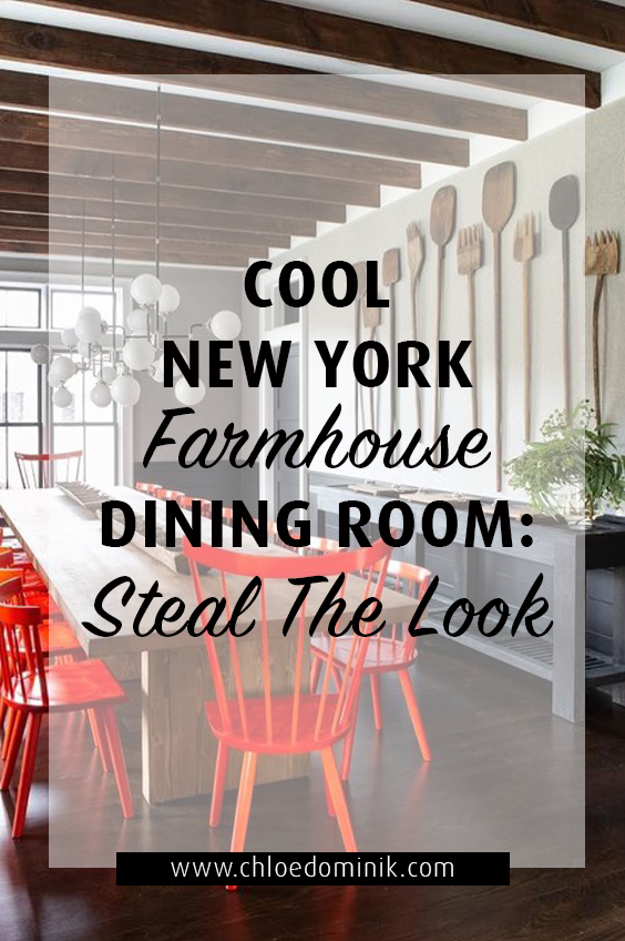 Cool modern New York farmhouse dining room by Change & Co: Steal the Look