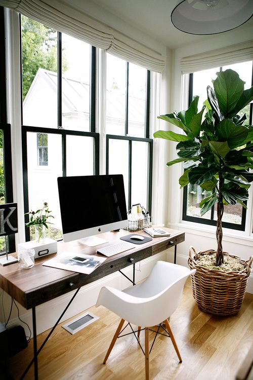 10 Tips To Create A Productive Home Office - Corner Window Home Office
