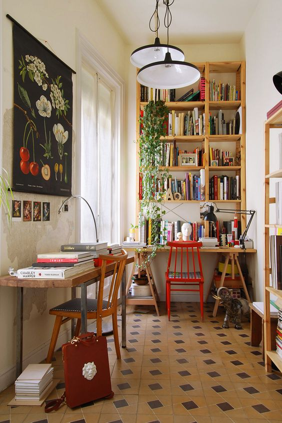 12 Inspiring Home Interior Reading Rooms - Small Study Area