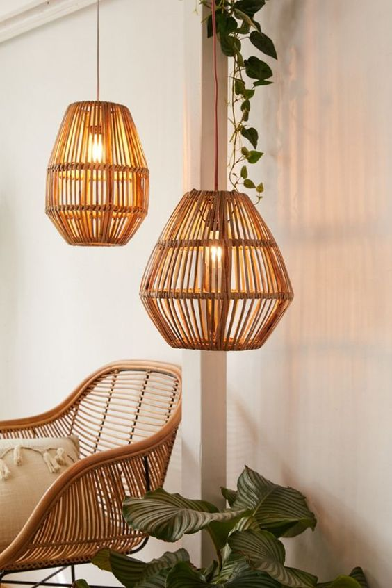 8 Things To Use For A Sustainable Friendly Home - bamboo lighting