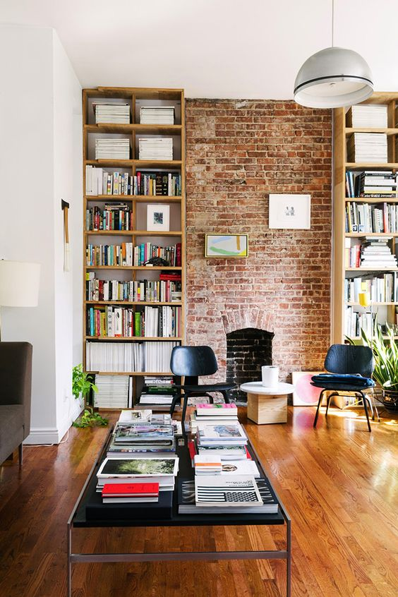 12 Inspiring Home Interior Reading Rooms - Fireplace