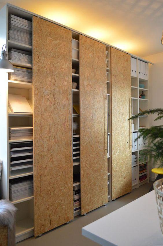 15 Interior Sliding Door Designs You'll Love - Storage Units Chipboard