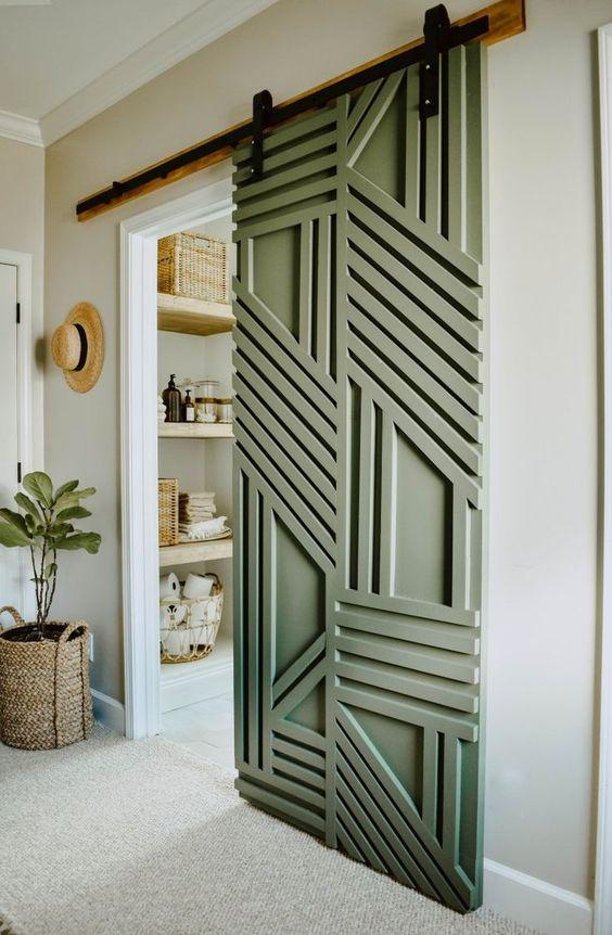 Abstract Pattern DIY Barn door
