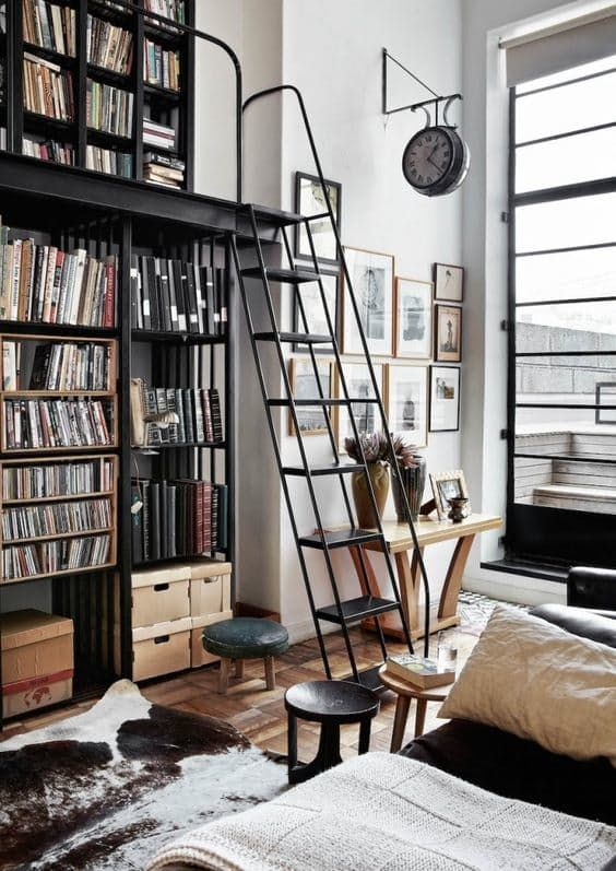 12 Inspiring Home Interior Reading Rooms - Double height home library
