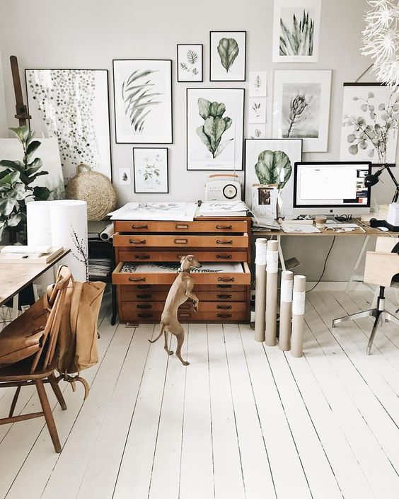 10 Tips To Create A Productive Home Office - Margo Hupert Art Office