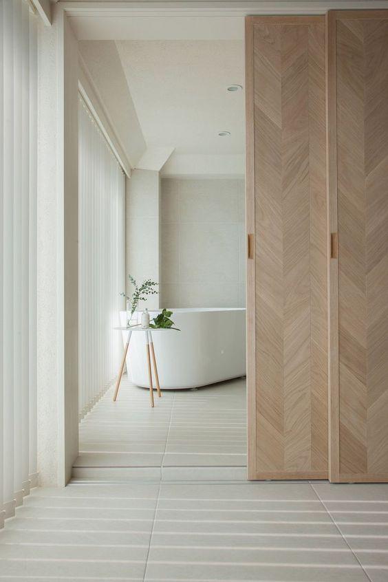 Japandi Wood Panelled Doors