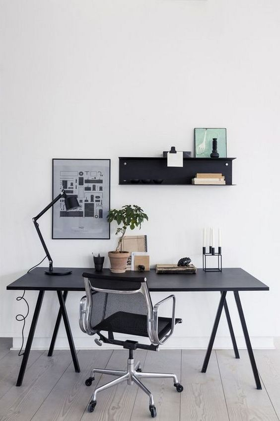 10 Tips To Create A Productive Home Office - Simple Desk and Chair Setup