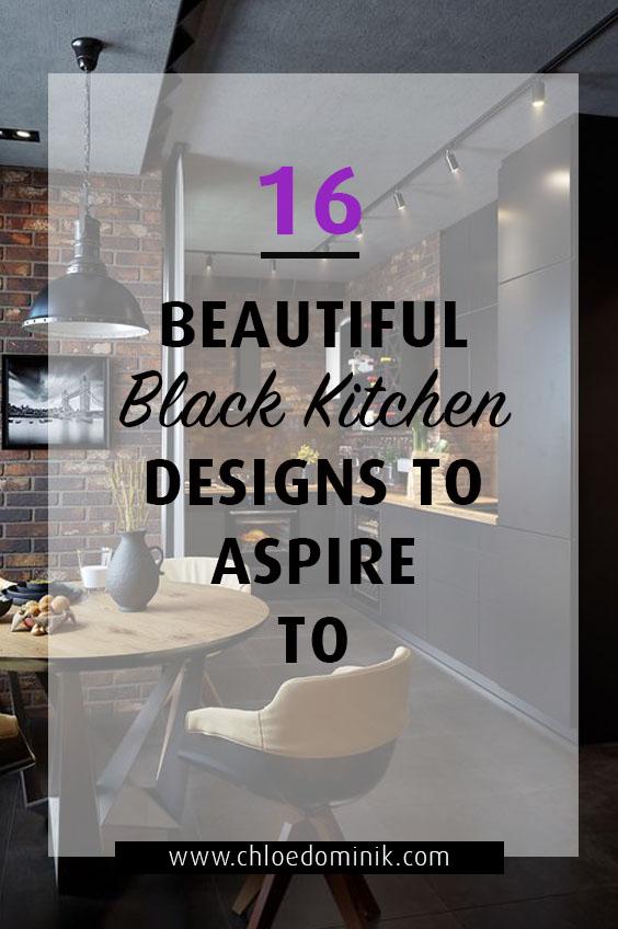 16 Black kitchen designs