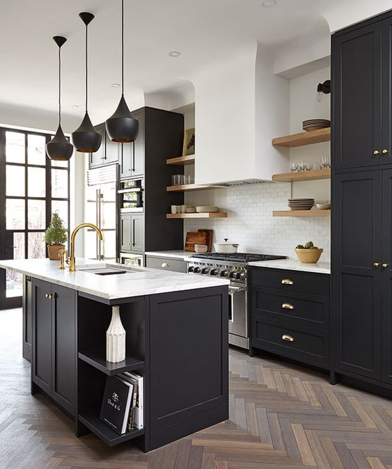 16 Beautiful Black Kitchen Designs To Aspire To