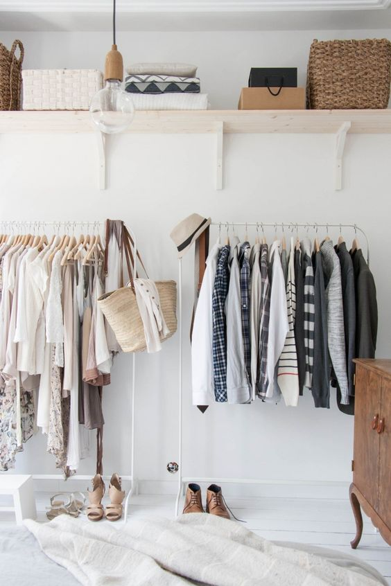 6 Design Styles To Avoid A Messy Home - Clothes Rail