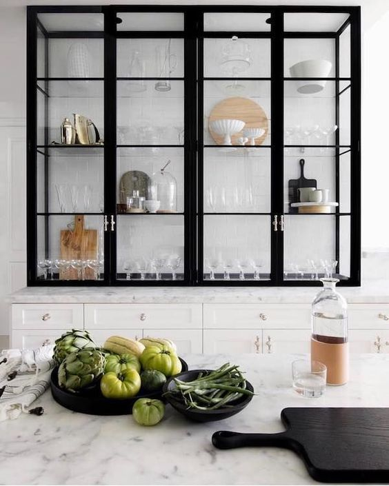 6 Design Styles To Avoid A Messy Home - Kitchen Glass Cabinets