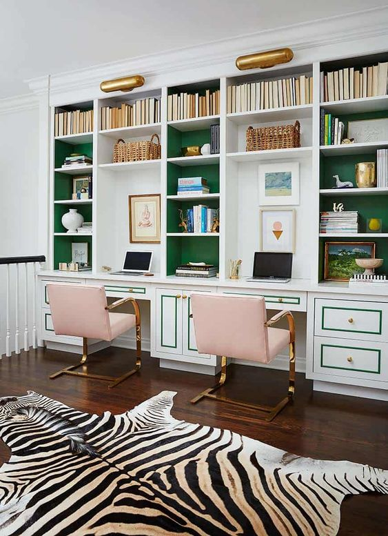 14 Inspiring Double Home Office Ideas - Eclectic Green Office