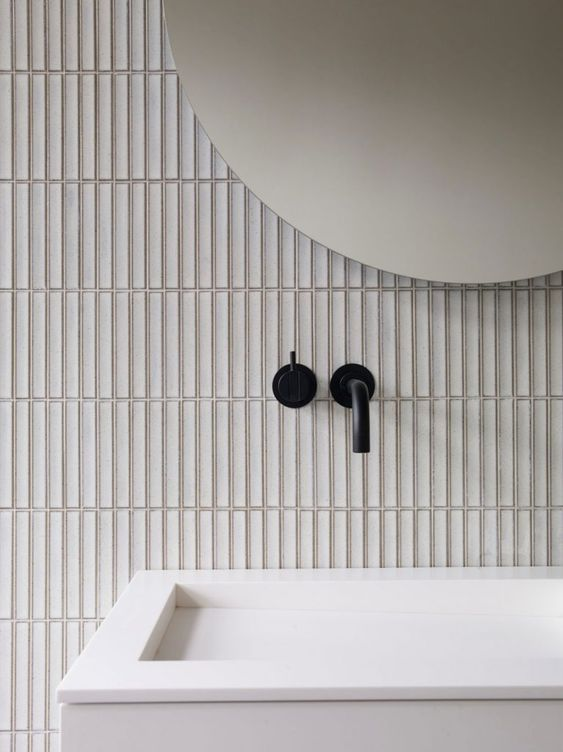Vertical Slim Line Bathroom Tiling