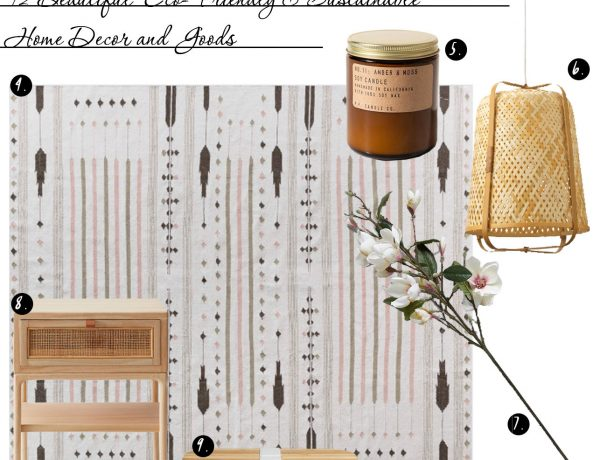 12 Beautiful Eco-Friendly & Sustainable Home Decor and Goods: Adopting a sustainable and eco-friendly life is becoming more thought about in everyday life shifting to all areas of life, home decor and goods included. Here are some beautiful home decor and items for around the home you'll love! @chloedominik #sustainablehomedecor #sustainablehomedecorideas #ecofriendlydecor #sustainablehome #sustainableliving #homedecorecofriendly
