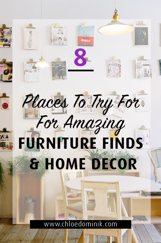 8 Places To Try For Amazing Furniture Finds & Home Decor: There are places to shop for furniture and home decor other than major retail shops if you're looking for something different, unique and one off pieces with personality here are few ideas to try before heading to the retail stores. @chloedominik #furnituredecor #furniturefinds #uniquefurniturepieces #personalityfurniture #amazingfurnitureideas #furniturepieces