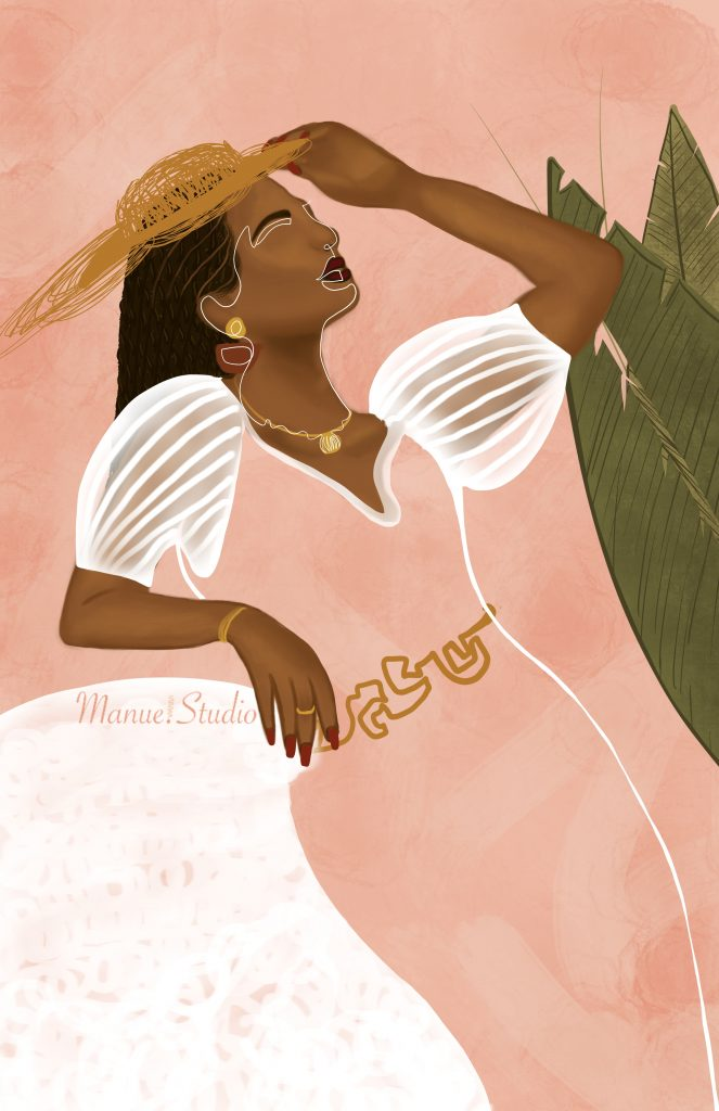 Bold & Beautiful Togo Inspired - Featured Artist: Manue Akue-Gedu: Bold and beautiful illustration of a black woman posing on a side angle with a pink background and line work overlaid of the facial features artwork by West African illustrator Manue Akue-Gedu @chloedominik #blackartists #blackartwork #blackillustrationart #blackillustrationgirl #blackwomanillustrationart #togoafricaart #africanillustrators