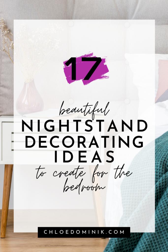 Nightstand Decorating Ideas