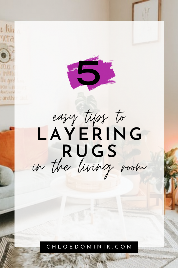 Layering rugs in the living room